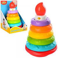Детская пирамидкасвеча12,5-21см, звук,свет, WinFun 0770-NL