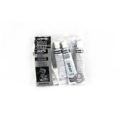 Серый силиконовый герметик NOWAX (+343⁰C) (25g по 5 шт) 9/72