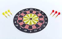 Мишень для игры в дартс из прессованной бумаги Baili 17in, d-43cм.,6 дротиков 8гр. (BL-67325)