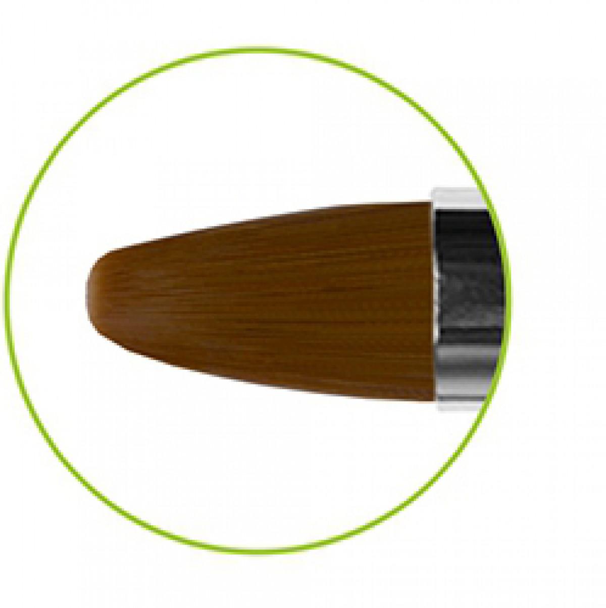 Кисть овальная коричневая синтетика № 3 серия GN33R Roubloff