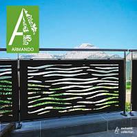 Балконные ограждения из Алюкобонда (лазерная резка)