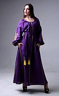 Платье длинное фиолетового цвета с вышивкой 50 1fde623ae53e5