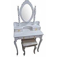 Столик туалетный белый массив дерева (145 х 40 х 75 см.)