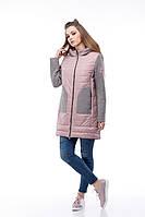 Удлиненная куртка комбинированная с шерстью