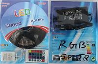 Светодиодная лента комплект SMD 5050 RGB 5 м + блок питания + пульт