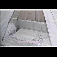 ДБ030/1 Спальный набор в детскую кровать (вышивка) (без балдахина)
