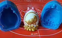 Силиконовый молд * Пасхальное яйцо с бантом и цыплятами* 3 D.