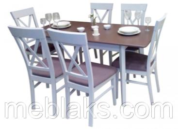 """Стол для кухни деревянный раскладной """"Лекс"""" 120(+40)х80х75 см Fusion Furniture"""