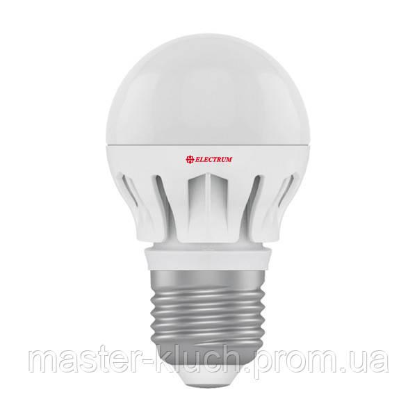 Лампа светодиодная шар Elektrum LED LB-14 E27 7W 4000K