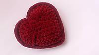 Подарок в день Валентина сердечко плюшевое красное