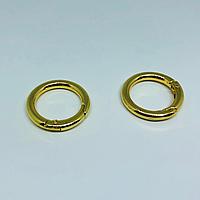 Кольцо самозажимное. Цвет золото. 28мм