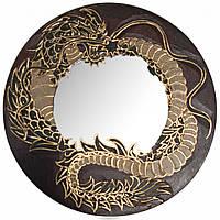 """Зеркало мозаичное """"Дракон"""" красный (d-30 cм)"""