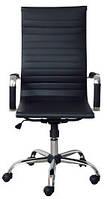 Офисное кресло Richman Бали-Armchair Bali черное Хром с высокой спинкой на колесиках