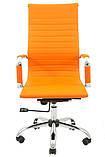 Офисное кресло Richman Бали-Armchair Bali черное Хром с высокой спинкой на колесиках, фото 5