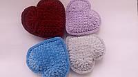 Сердечко в подарок день Валентина плюшевое голубое