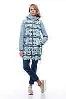 Женское пальто в модный принт, весна-осень 2018, тренд сезона, размер 42-54