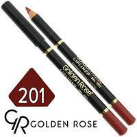 Карандаш для губ Golden Rose LipLiner № 201