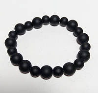 Браслет из Шунгита, натуральный камень, цвет черный