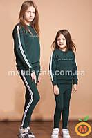Спортивный костюм для девочки джемпер и леггинсы 2-5 лет (98,104,110)