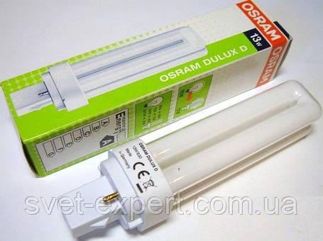 Лампа Osram DULUX D 13W/840 G24d-1 люмінесцентна, фото 2