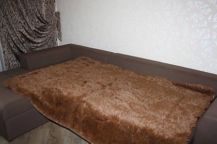 Покрывало - плед меховое утепленное 210*230 (шоколад), фото 2