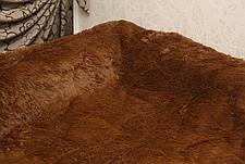 Покрывало - плед меховое утепленное 210*230 (шоколад), фото 3
