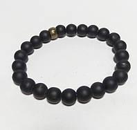 Браслет Шунгитовый натуральный камень, цвет черный