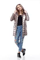 Золотое пальто писк моды 2018, весна-осень 2018 размер 42-54, фото 3