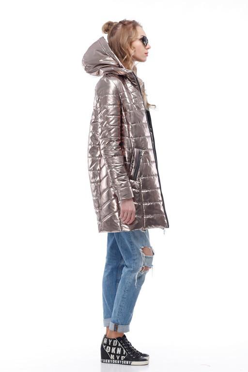 Золотое пальто писк моды 2018, весна-осень 2018 размер 42-54