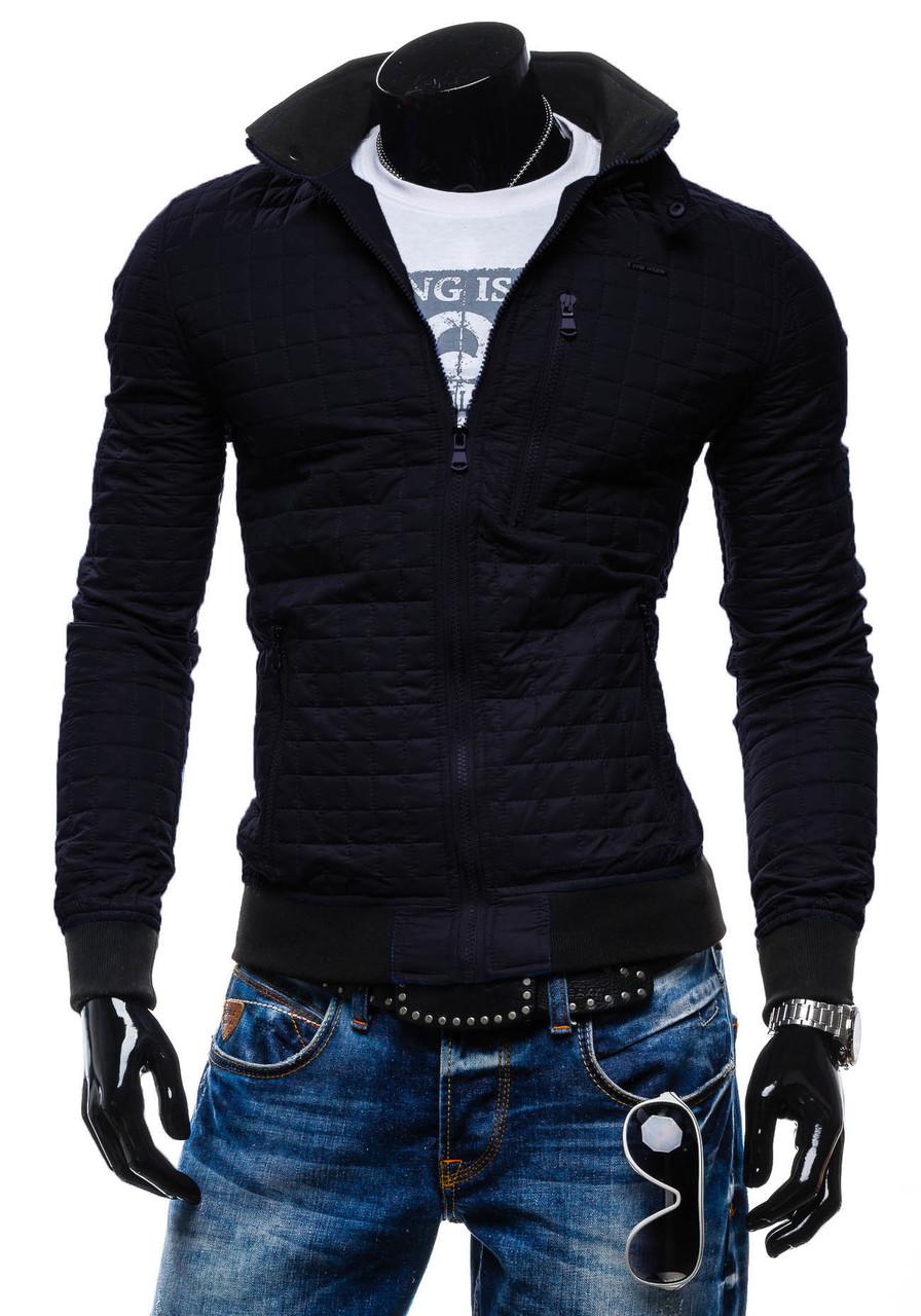 Стильная мужская куртка черного цвета