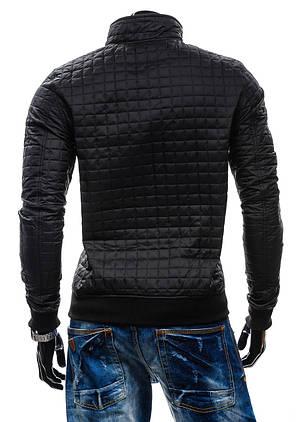 Стильная мужская куртка черного цвета, фото 2