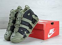Мужские кроссовки Nike Air More Uptempo Green/Black, фото 1