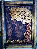 Картина из монет ручной работы 30*40см