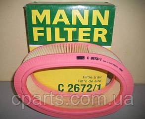 Воздушный фильтр Dacia Logan (Mann C2672/1)(высокое качество)