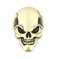 3D эмблема  - череп бронза, фото 1