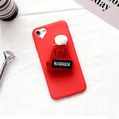 Чехол накладка на iPhone 6 plus/6splus красный с красной  шапочкой, плотный силикон.
