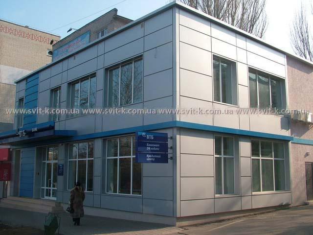"""ООО """"Фасад-проект"""" алюминиевые фасадные панели в фасадных кассетах"""