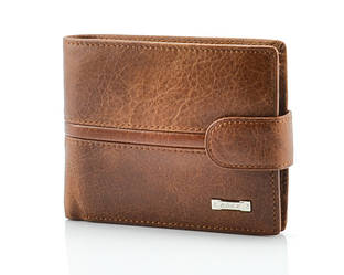 Кожаное портмоне рыжего цвета Beidierke 024-27