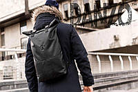 Ролл-топ рюкзак кожаный mod.Roller черный
