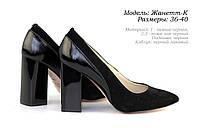 Женские туфли на каблуке.