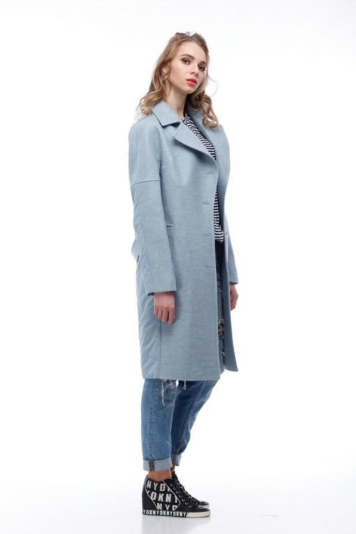 Комбинированное пальто кашемир и плащевка тренд года 2018 637757c8da308