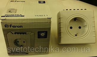 Розетка с таймером электронная  Feron TM211