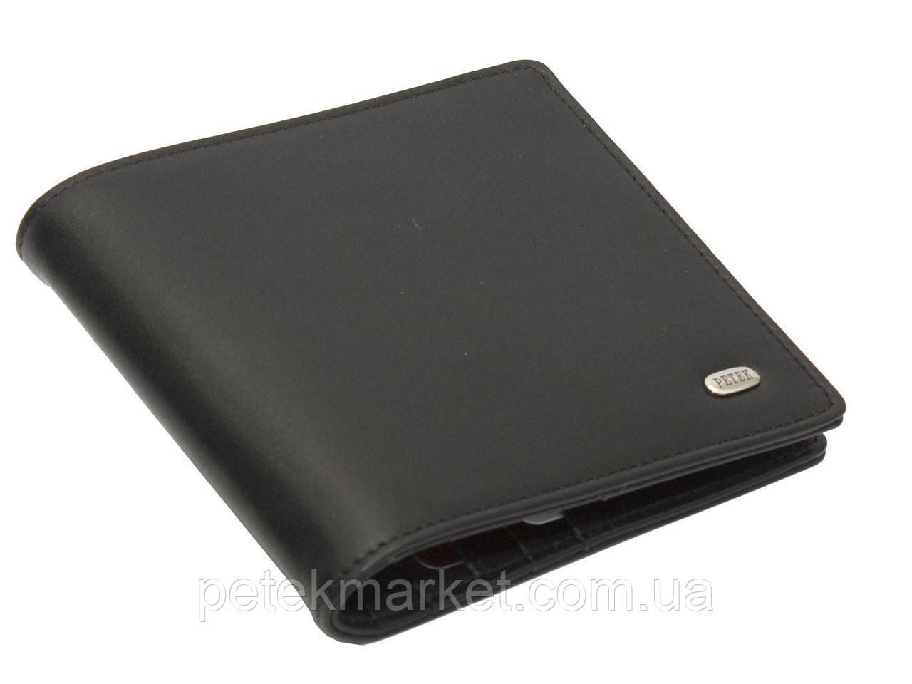 Кожаное мужское портмоне, зажим для купюр Petek 197