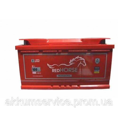 Аккумулятор автомобильный Red Horse 100AH R+ 850A