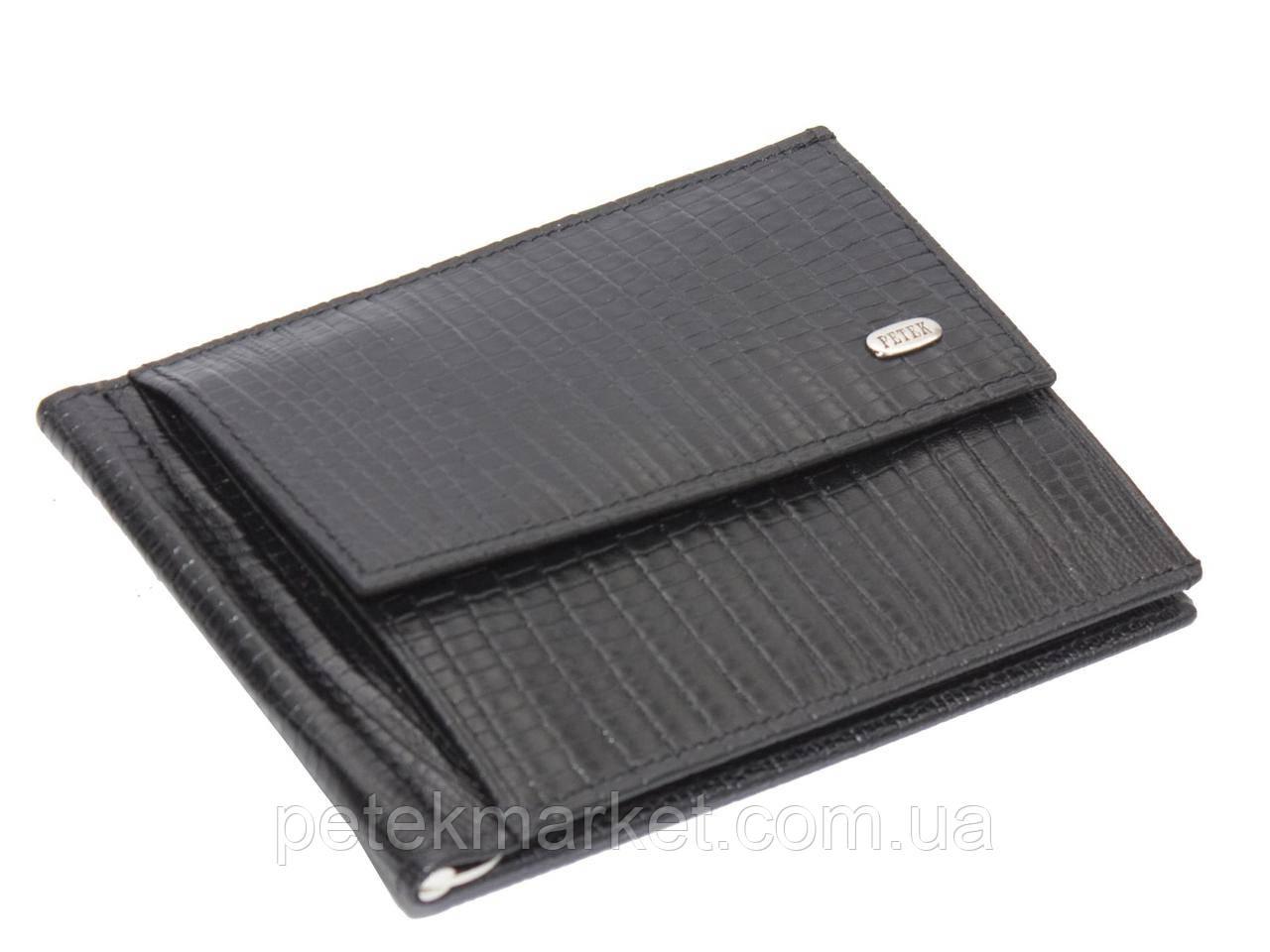 Кожаное мужское портмоне, зажим для купюр Petek 143