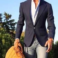 Как носить мужской пиджак по джинсы, модный лук