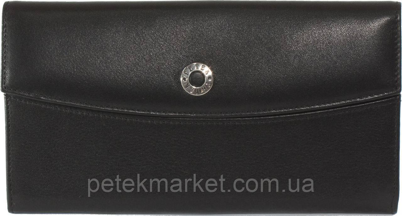 Женское портмоне Petek 471, Черный, 2, 5+, Горизонтальное, Гладкая, Снаружи, Есть, Матовая, Под ровную купюру