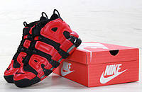 Мужские кроссовки Nike Air More Uptempo Red/Black , фото 1