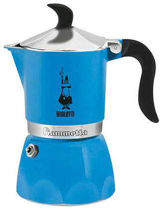 Гейзерная кофеварка Fiammetta Azurro Fluo 180 мл 0004632, фото 2