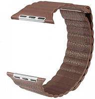 Ремешок ArmorStandart для смарт-часов Apple Watch ALL Series 38mm Leather Loop Band Brown